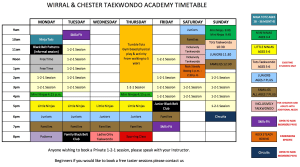 New Timetable for 2019