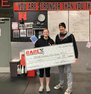 Check-In Challenge Winner at RARE CrossFit Fredericksburg, Spotsylvania, and Stafford's premier CrossFit Facility!