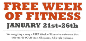 FREE WEEK OF FITNESS!