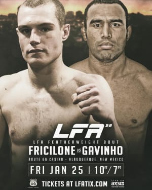 FIGHT NEWS FOR VINCE FRICILONE!