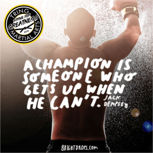 Strive For Greatness - A Champion is Someone who...