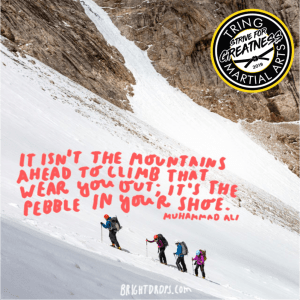 Strive For Greatness - Its not the mountains ahead that you have to climb...