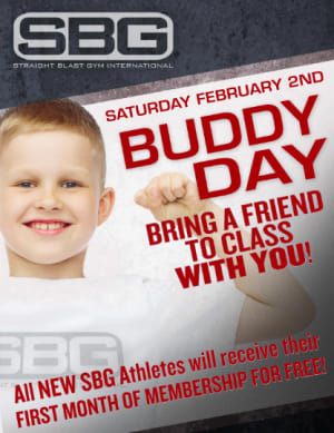 Buddy Day At Straight Blast Gym is February 2, 2019