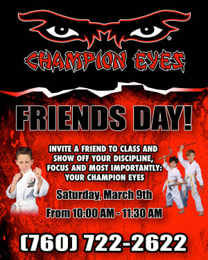 in Oceanside - Champion Eyes - Friends Day