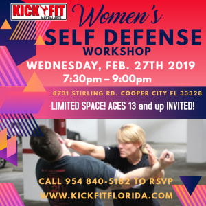 Don't Be A Victim! Real Self Defense for the Real World - Women of Cooper City, Davie, Pembroke Pines, and Weston are invited