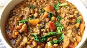 Recipe of the Week: Easy Spinach Lentil Soup