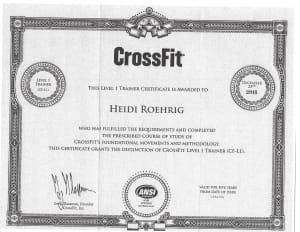CrossFit in Chelsea - Strong Together Chelsea - CONGRATULATIONS HEIDI!!
