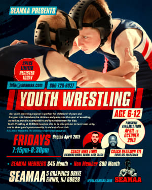 YOUTH WRESTLING (AGE 6-12) Begins April 26th