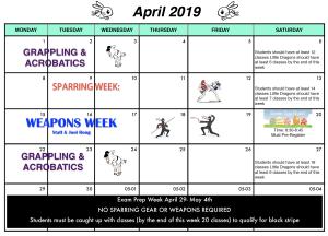 Kids Martial Arts near  Houston - Meyerland Martial Art Center - April 2019 Calendar