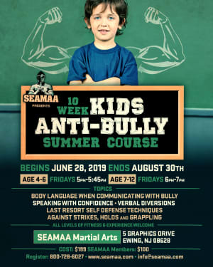 10 Week Kids Anti Bully Summer Course