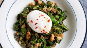 Recipe of the Week: Crispy White Beans with Greens and Poached Eggs