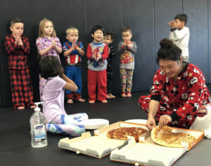 Kids Martial Arts Group Earns Pajama Pizza Party