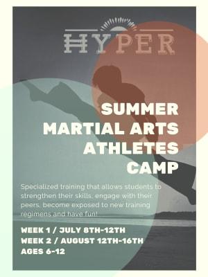 Summer Martial Arts Athletes Camp