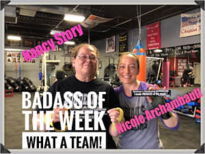 Rondeau's Kickboxing BadAss of the Week - Nancy and Nicole