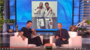"Blue belt ""Slater"" tells why he started Jiu Jitsu on The Ellen Show"