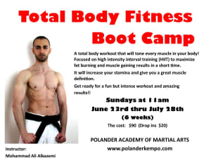 Get your best beach body ever - Total Body Fitness Boot Camp!