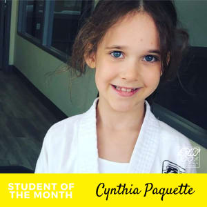 Student of the Month - Bravo Cynthia!