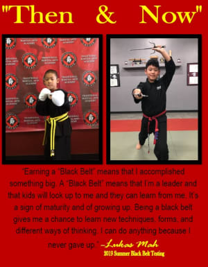 Future Black Belt....Then & now, Lukas Mah