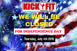 KICKFIT CLOSED - JULY 4TH 2019