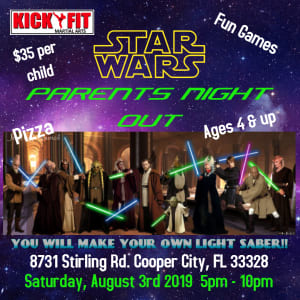 Taekwondo for Kids Parent's Night Out Party - Cooper City   Davie   Pembroke Pines   Weston  OPEN TO THE PUBLIC