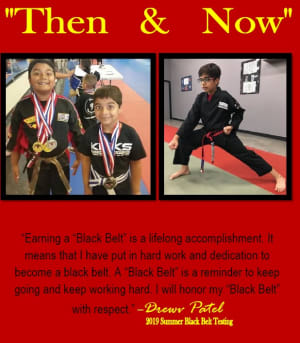 Student profile Drewv Patel - Then and Now