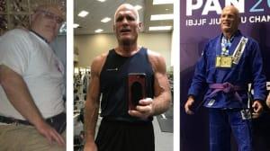 57 yr old starts BJJ loses 100 lbs