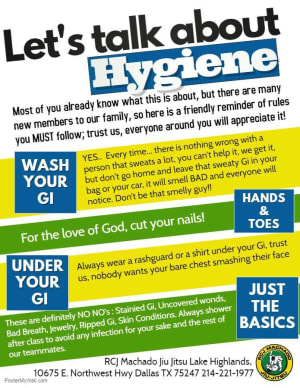 A few school rules concerning Hygiene!