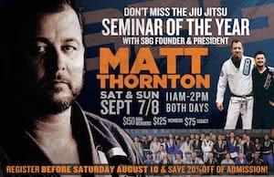 Matt Thornton Brazilian Jiu Jitsu Seminar