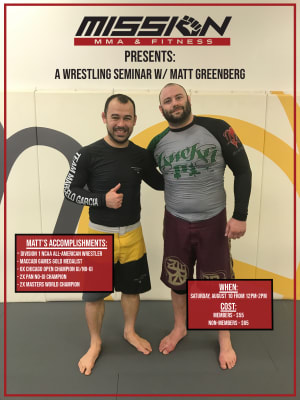 Mission MMA Presents: A Wresting Seminar with Matt Greenberg!
