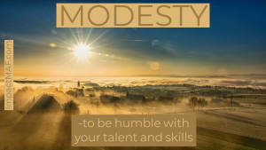 Black Belt Principle #1 - Modesty
