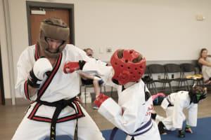 Testing for Karate Color Belts on 8/24