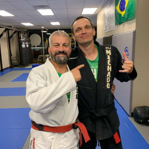 Congratulations Jason Anderson on receiving your Black Belt from Carlos Machado