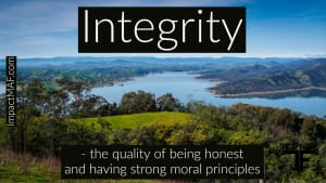 Black Belt Principle #3 - Integrity