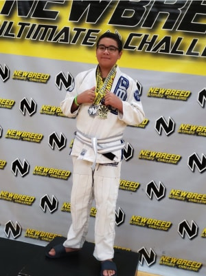 Christian Romero is September's Kids Martial Arts Member of the Month