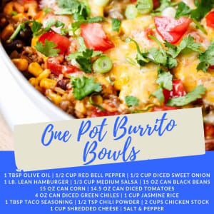 Recipe of the Week: One Pot Burrito Bowls