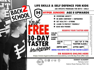 Back to school - Hyper Academy 30 Day FREE taster in Ramsey
