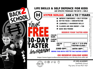Back to school - Hyper Academy 30 Day FREE taster in St. Ives