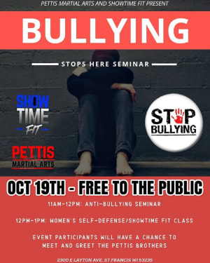 OCT 19th - BULLYING STOPS HERE SEMINAR