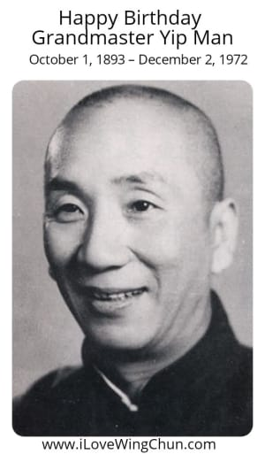 Happy Birthday Grandmaster Yip Man