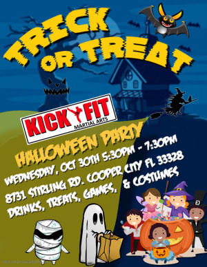 Kickfit Halloween Party in Cooper City / Davie / Pembroke Pines