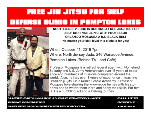 Jiu Jitsu For Self Defense Clinic @ North Jersey Judo