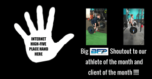 Congrats to our June athlete and client of the month!