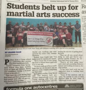 Springfield Special School in Crewe Kick-Start their Self-Defence with Martial Arts
