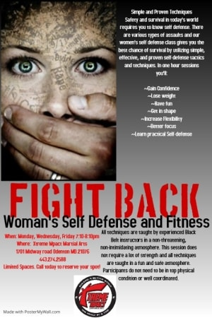 Join Xtreme Mpact For Our Woman's Self Defense Classes