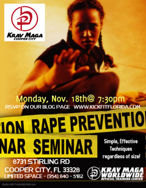 Women's Self Defense Seminar - Invitation for women of Cooper City / Davie / Weston