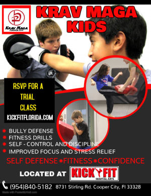 Calling all Cooper City / Davie / Weston Kids!! Now have Krav Maga Kids
