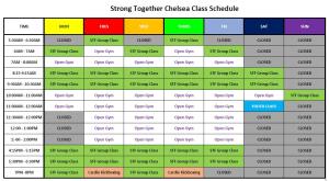 NEW SATURDAY CLASS SCHEDULE STARTING 11/9/19!