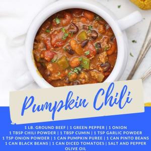 Recipe of the Week: Pumpkin Chili
