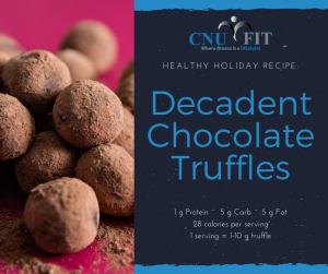 Healthy Holiday Recipe: Decadent Chocolate Truffles