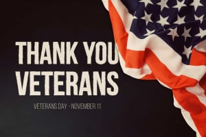 CVMA closed for Veterans Day 11/11/19